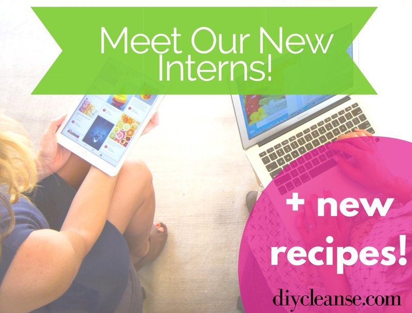 Meet Our New Interns {And see their favorite recipes}